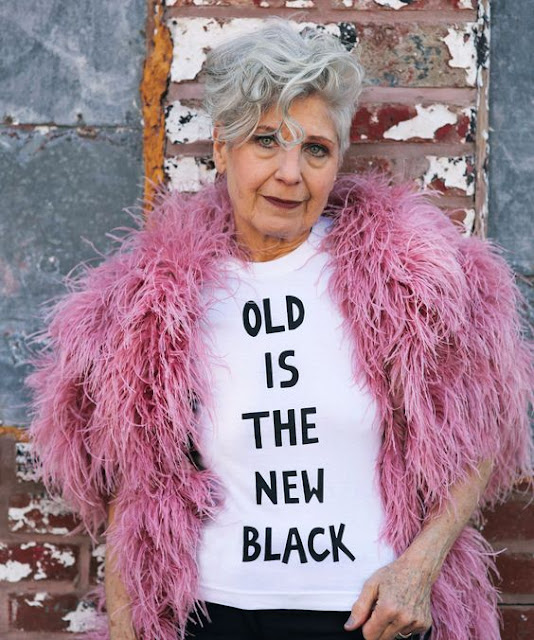 'Old Is The New Black' T-Shirt.  PYGear.com