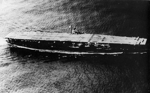 Japanese aircraft carrier Akagi, sunk at Midway worldwartwo.filminspector.com