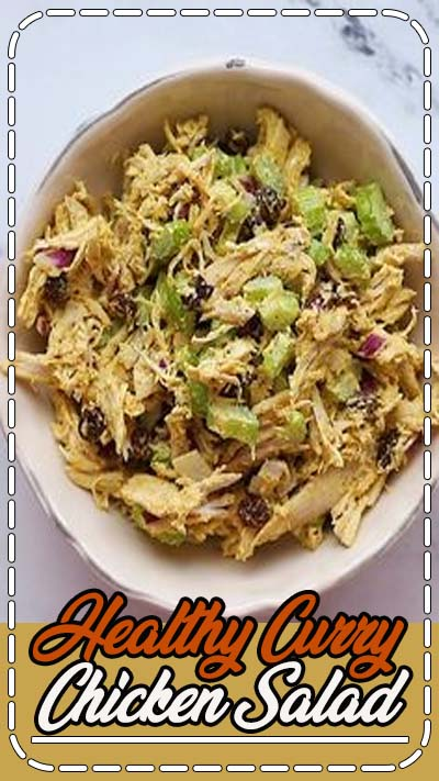 This curry chicken salad recipe with celery, onion and raisins is super flavorful and comes together fast using shredded chicken. It's an awesome salad to meal prep for lunches throughout the week.