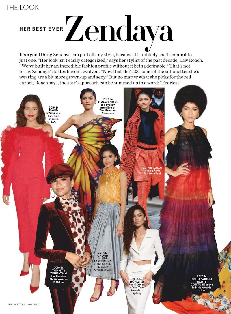 Zendaya Featured In InStyle Magazine May 2020 Issu | Celebrity Photos Daily