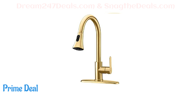 50% OFF Gold Kitchen Faucet Modern Pull Out