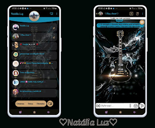 Guitar & Music Theme For YOWhatsApp & Fouad WhatsApp By Natalia Luz