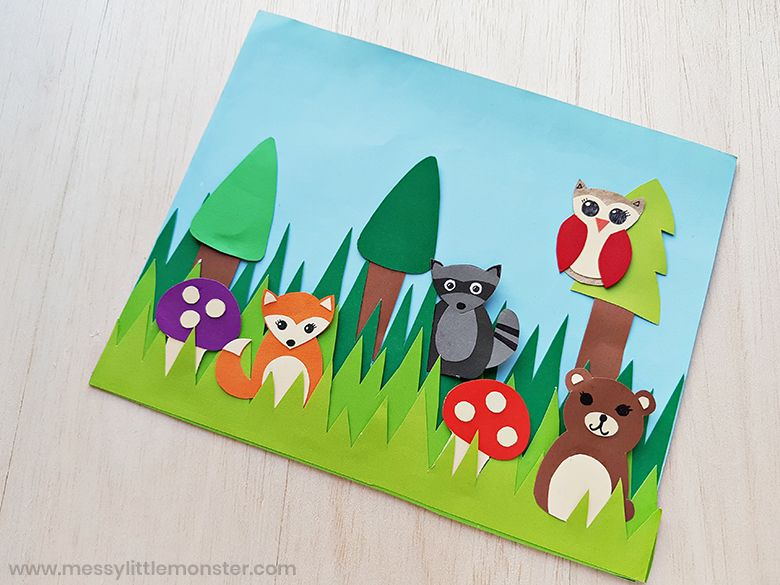 woodland animals autumn craft for kids