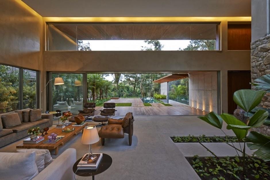 Casa bosque da ribeira anastasia arquitetos brasil for Casa moderna open