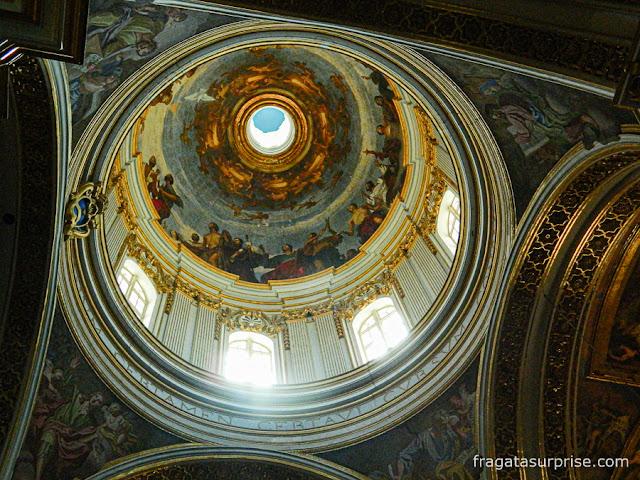 Cúpula da Catedral de São Paulo, em Mdina, Malta