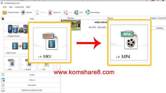 Cara Merubah Format Video dengan Mudah