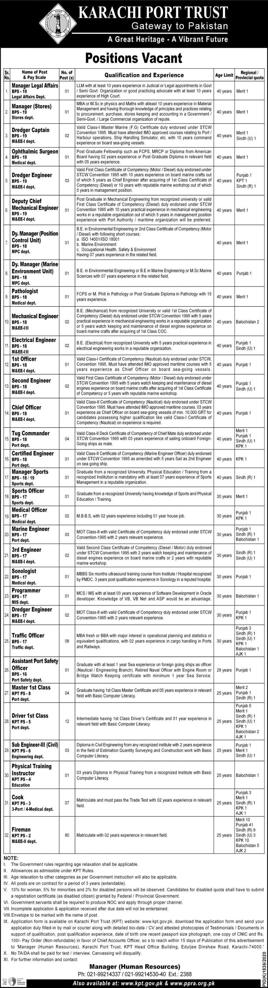 Download KPT Jobs 2021 Application Form - www.kpt.gov.pk - Karachi Port Trust Jobs 2021 - KPT Jobs 2021 - Karachi Port Trust KPT Jobs 2021