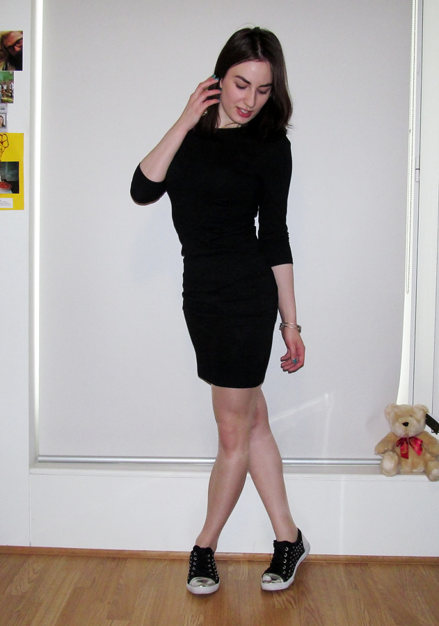 Trainers and Little Black Dress
