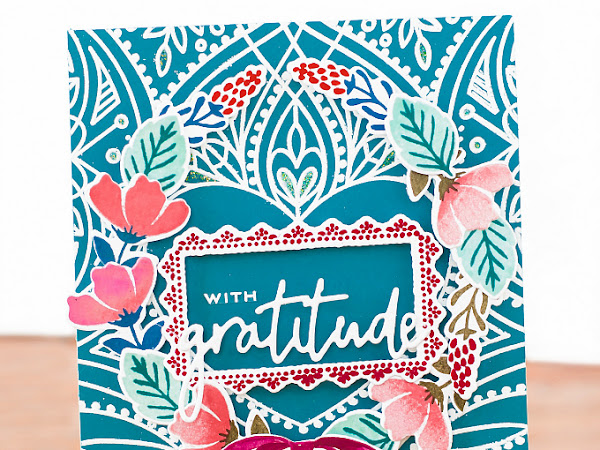 With Gratitude - Simon Says + Pinkfresh Studio | Stretch Your Stamps