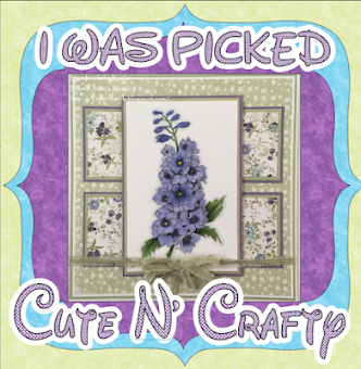 TOP PICK OVER AT CUTE N CRAFTY CHALLENGE