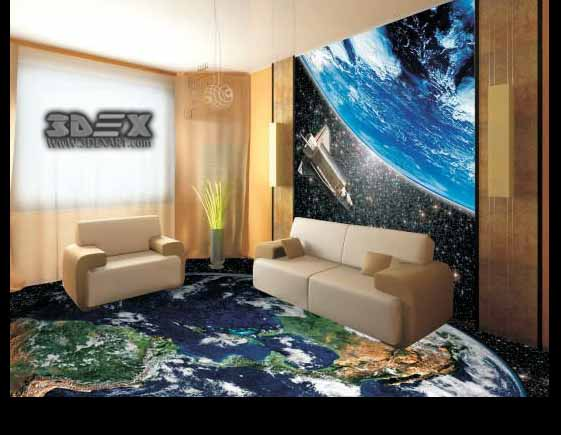 Best 3D flooring designs, 3D epoxy floor images for bathroom 2019