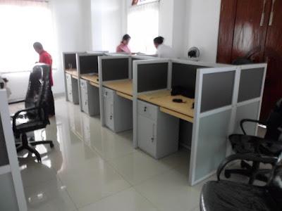 Meja Sekat Ruang Staff Kantor + Furniture Semarang