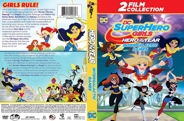 DC Super Hero Girls Double Feature DVD Cover