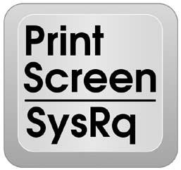 شكل زر Print Screen Sys Rq فى كيبورد الحواسيب الحديثة