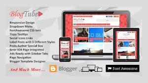 BlogTube Responsive Blogger Template