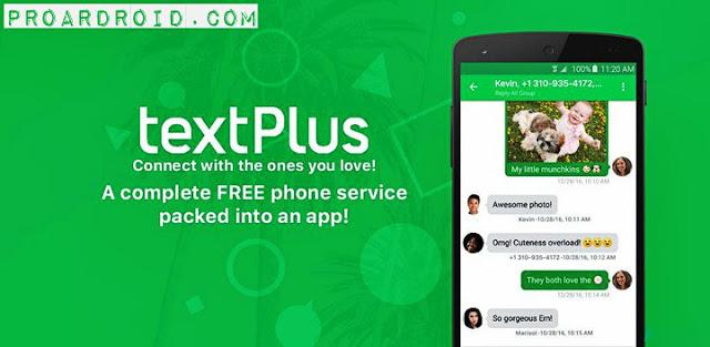 تطبيق v7.4.2 textPlus: Free Text & Calls لأجراء إتصالات هاتفية بالمجان للأندرويد logo