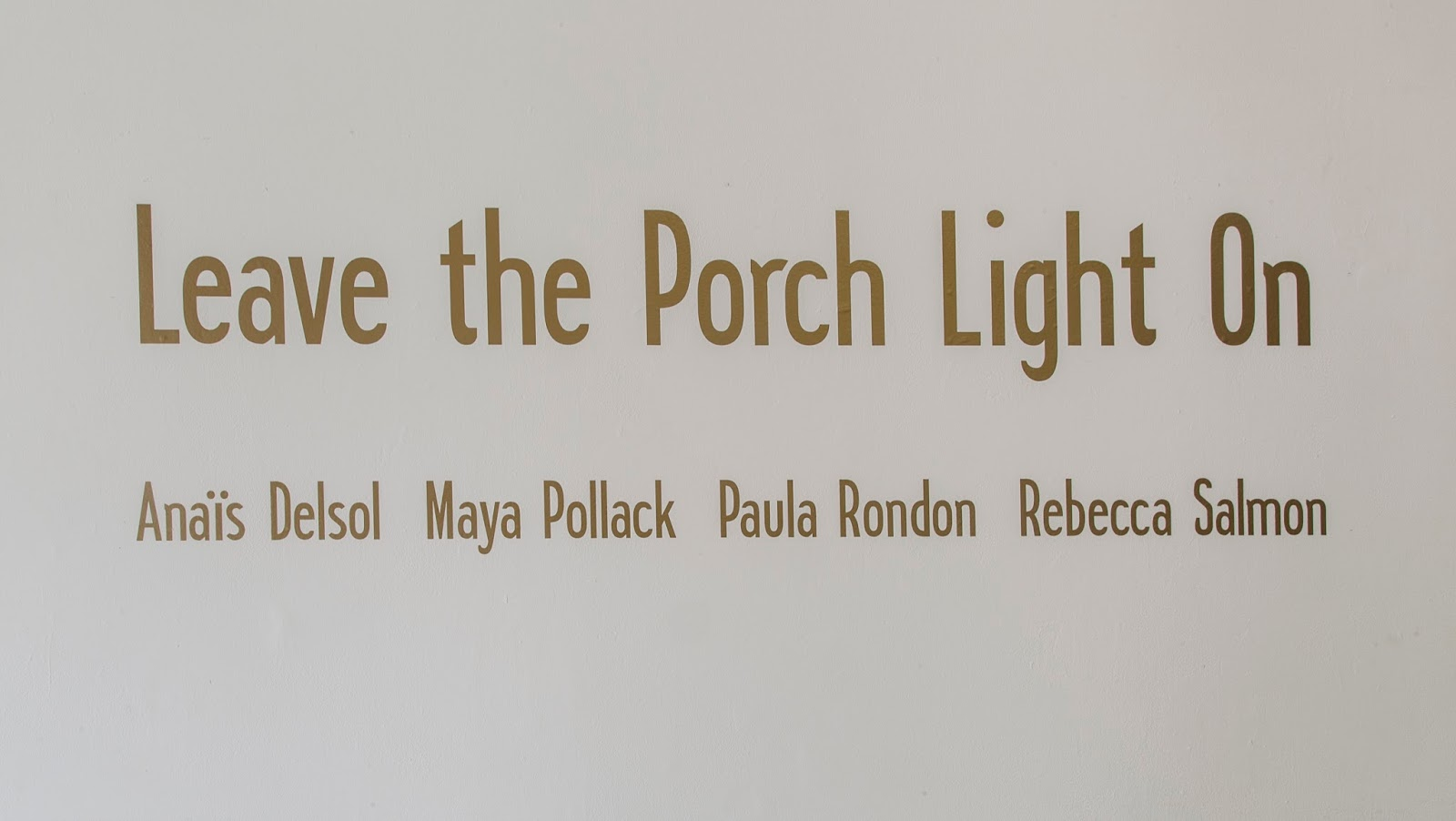 the commons leave the porch light on on view through october 4. Black Bedroom Furniture Sets. Home Design Ideas