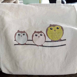 owl grocery tote bag adult library bag