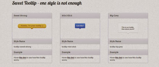 Sweet Tooltip a jQuery & CSS3 Tooltips