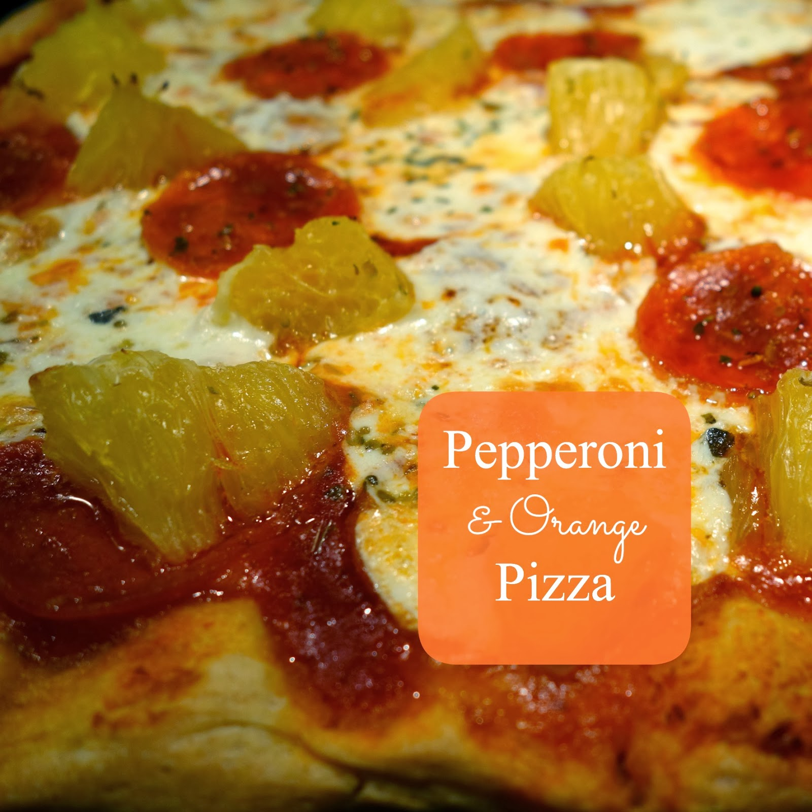 Sweet caramelized orange chunks and spicy pepperoni liven up this pizza.