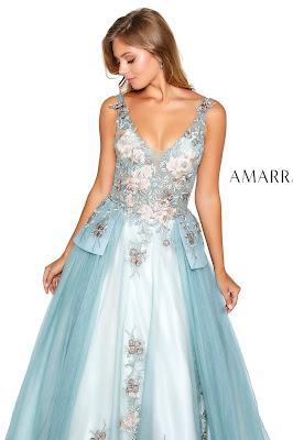 Embroidered Prom Dress Amarra sage Color