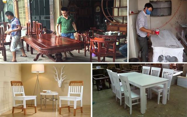 Thợ sơn pu giá rẻ tại hà nội, Chuyên Nhận Sơn lại Đồ gỗ đánh vecni đánh bóng làm mới chuyên nghiệp