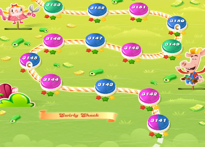 Candy Crush Saga level 3141-3155