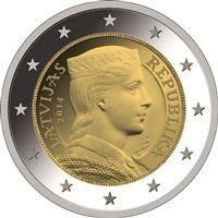 Latvia 2 euroa kolikko 2014