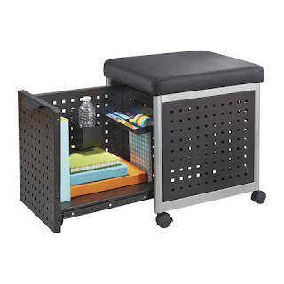 scoot file cart with cushion top