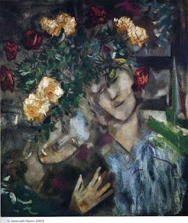 Марк Шагал. Двое с цветами. 1927