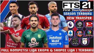 Download FTS 21 Android Offline Update New Transfer 2021 Full Eropa & Shopee Liga 1 Indonesia
