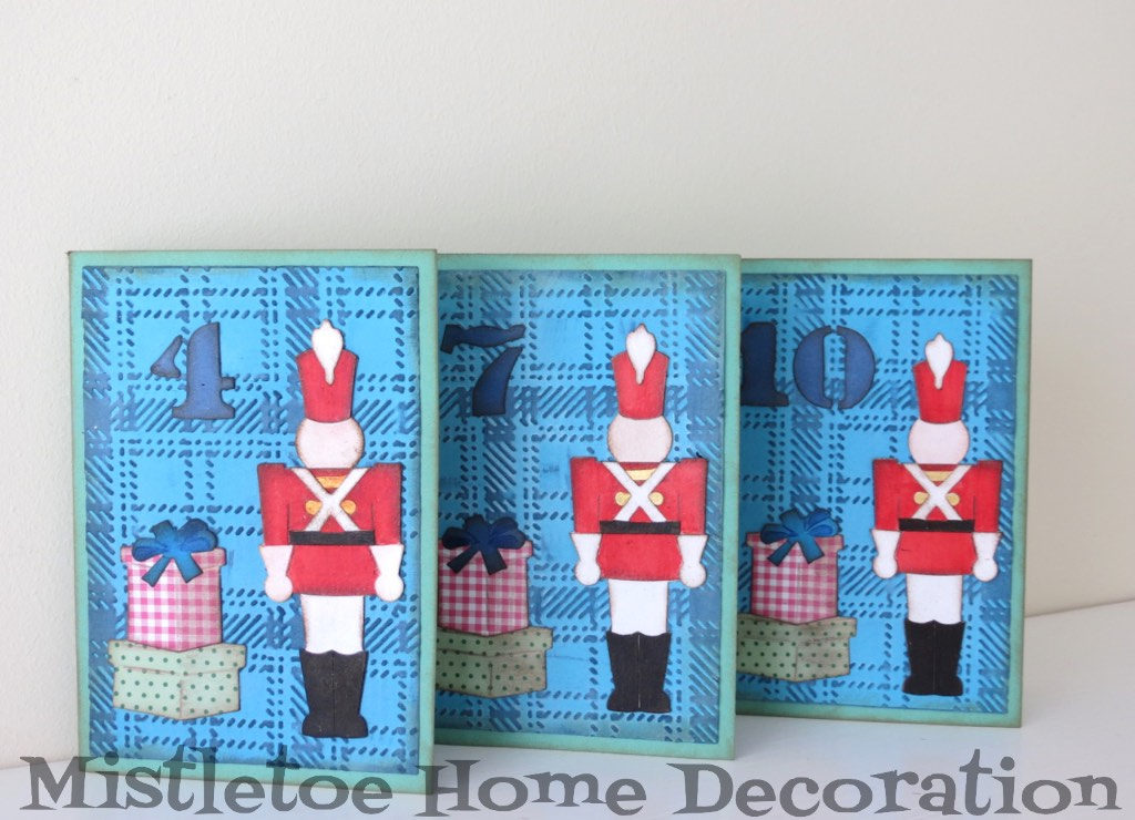 Mistletoe Home Designs Birthday Card With Tim Holtz Toy Soldier And