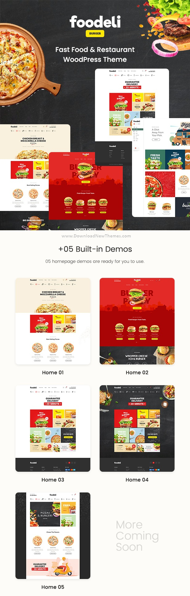 Food Ordering & Delivery WordPress Theme