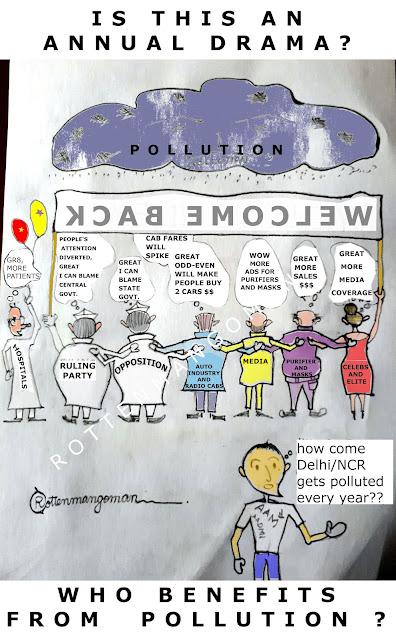 RottenMangoMan Blogger Do Some Agencies Welcome Delhi Pollution Cartoon