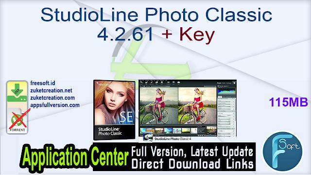 StudioLine Photo Classic 4.2.61 + Key