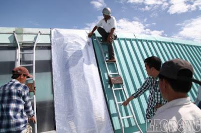 thi công mái tôn tại quận Nam Từ Liêm