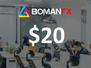 BOMANFX $20 Forex No Deposit Bonus