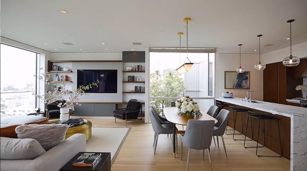47 Interior Design Photos vs. 2064 Jackson St, San Francisco, CA  Luxury Penthouse Tour
