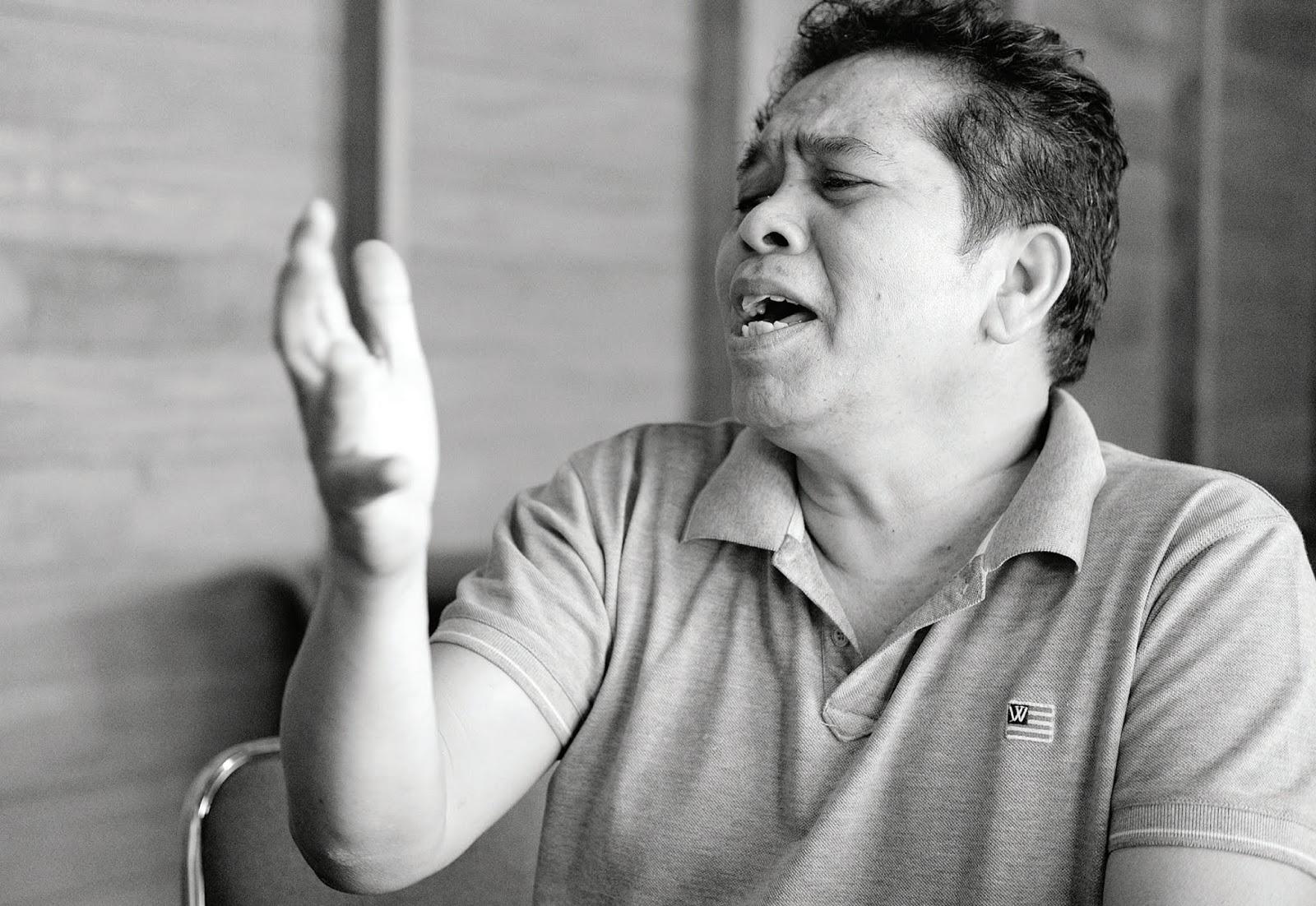 foto artis Tagor Tampubolon pencipta lagu Batak Toba