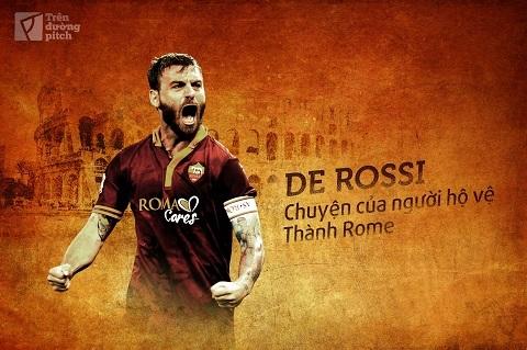 Daniele De Rossi vẫn trung thành với màu áo của AS Roma sau hơn 15 năm.