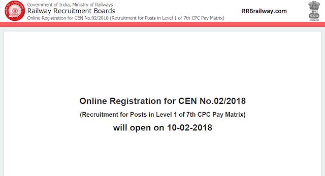 Online Registration for CEN No.02/2018 will open on 10-02-2018