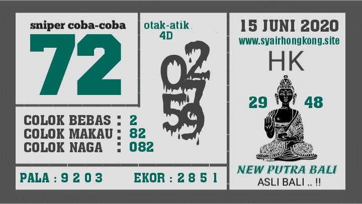 Prediksi Syair HK 15 Juni 2020