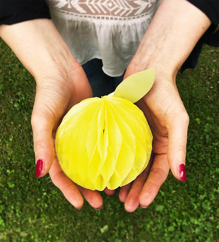 pompom a forma di limone