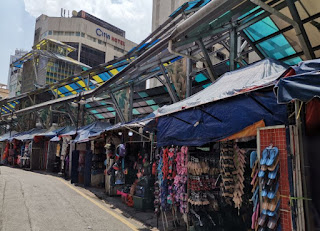 Jalan Masjid India street de Kuala Lumpur. Malasia.