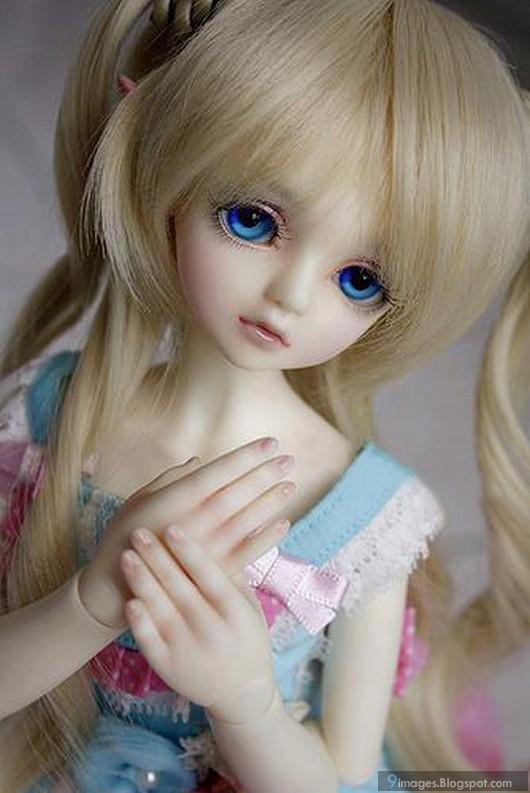 Little Cute Doll Blue Eyes Cute Dashing Beauty