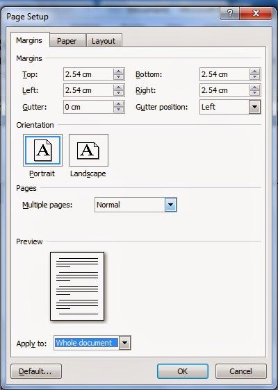 Cara Mengatur Ukuran Kertas Page Payout Di Microsoft Office Word Tutorial Ms Word Tutorial Komputer