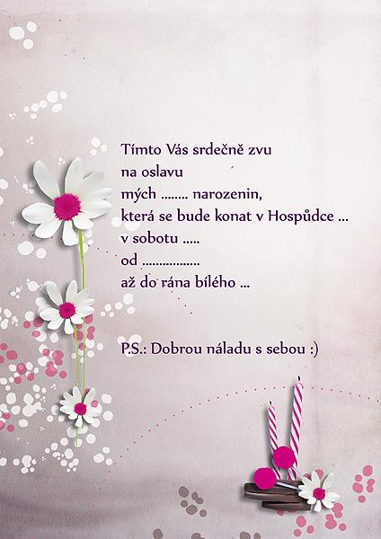 narozeninové přání text Sonrisa designs and graphics: Pozvánky na narozeniny, přání narozeninové přání text