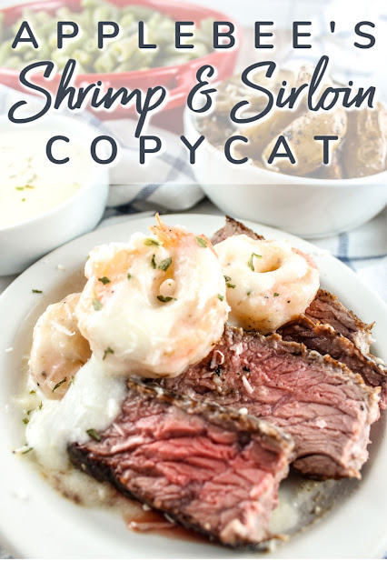 Copycat Applebees Shrimp & Parmesan Sirloin Recipe