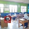 Personil Polsek Galsel Polres Takalar Amankan Pelaksanaan UAS Tingkat Madrasah Mts