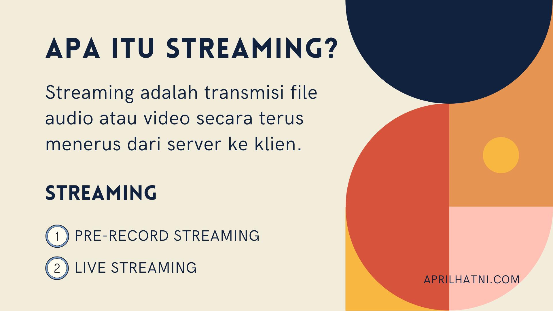 apa itu streaming